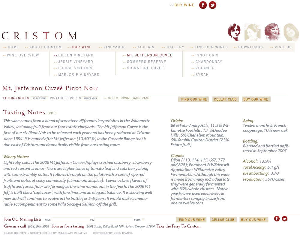 Cristom_Website_Design_Tasting-Notes